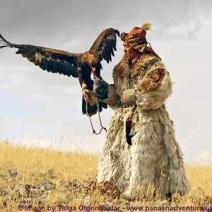 Mongolia Kazakh hunter and Golden Eagle